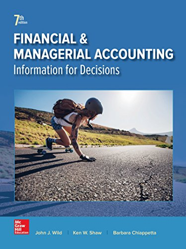 Financial and Managerial Accounting:   2017 9781259726705 Front Cover