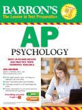 Barron's AP Psychology, 6th Edition  6th 2014 (Revised) 9781438002705 Front Cover