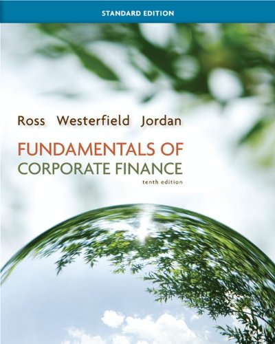 Fundamentals of Corporate Finance Standard Edition with Connect Plus  10th 2013 edition cover