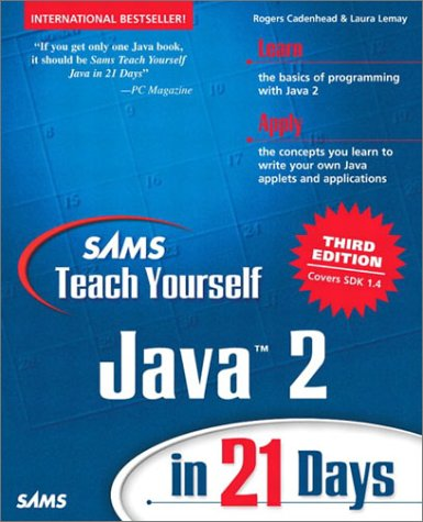 Sams Teach Yourself Java 2 in 21 Days  3rd 2003 edition cover