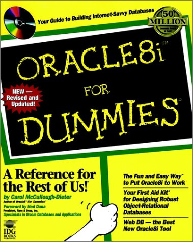 Oracle 8i for Dummies   1999 (Revised) 9780764505706 Front Cover