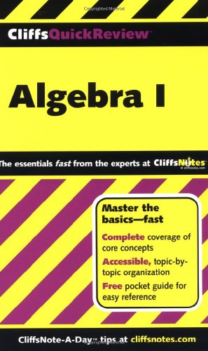 CliffsQuickReview Algebra I   2001 edition cover