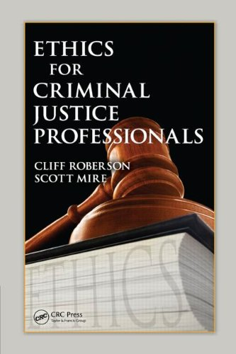 Ethics for Criminal Justice Professionals   2009 edition cover