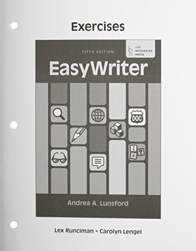 Exercises for EasyWriter  5th 2014 edition cover