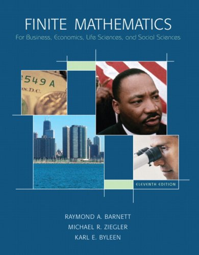 Finite Mathematics For Business, Economics, Life Sciences, and Social Sciences 11th 2008 edition cover