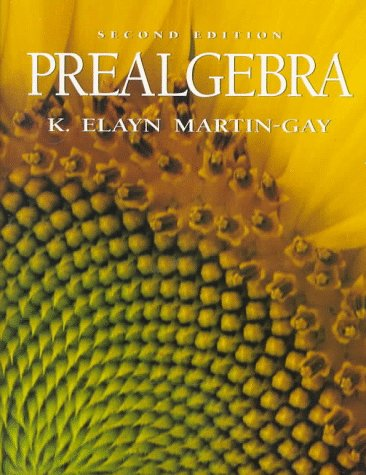 Prealgebra  2nd 1997 9780132424707 Front Cover