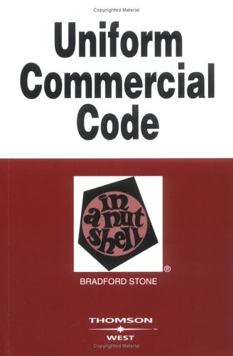 Uniform Commercial Code in a Nutshell  6th 2005 (Revised) edition cover