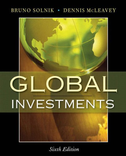 Global Investments  6th 2009 edition cover