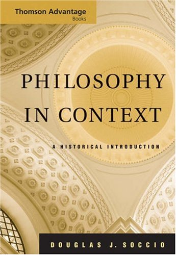 Philosophy in Context A Historical Introduction  2006 edition cover