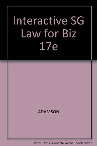 Law for Business and Personal Use  17th 2006 (Student Manual, Study Guide, etc.) 9780538440707 Front Cover