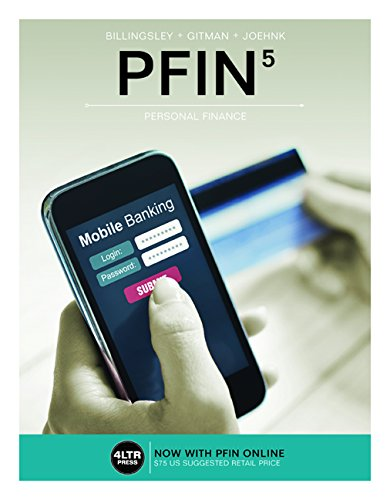 PFIN: With Online, 6 Months Access Card  2016 9781305661707 Front Cover