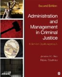 Administration and Management in Criminal Justice A Service Quality Approach 2nd 2015 edition cover