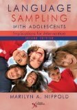 Language Sampling with Adolescents Implications for Intervention 2nd 2014 (Revised) edition cover