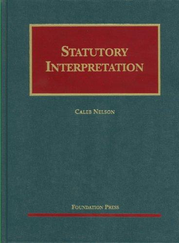 Statutory Interpretation   2011 edition cover