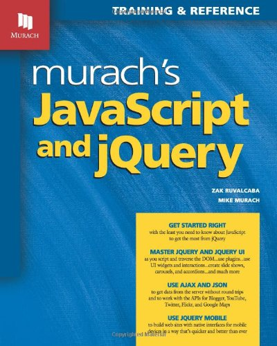 Murach's JavaScript and JQuery   2012 edition cover
