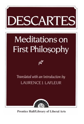 Descartes Meditations on First Philosophy 1st 1960 edition cover
