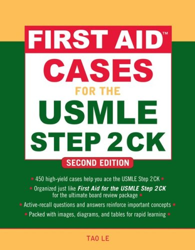 First Aid Cases for the USMLE Step 2 CK  2nd 2010 edition cover