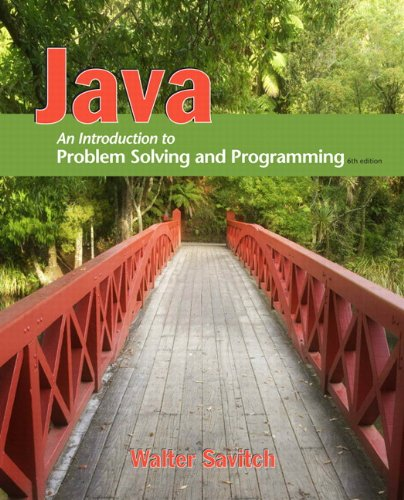 Java An Introduction to Problem Solving and Programming 6th 2012 edition cover