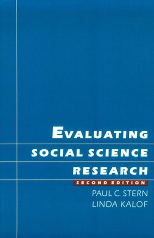 Evaluating Social Science Research  2nd 1996 (Revised) edition cover