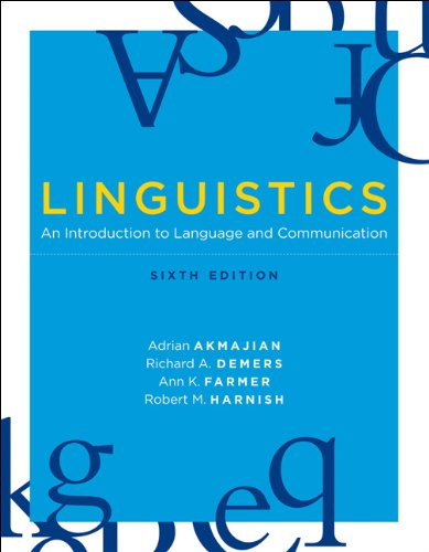 Linguistics An Introduction to Language and Communication 6th 2010 edition cover