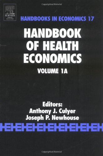 Handbook of Health Economics  3rd 2000 edition cover