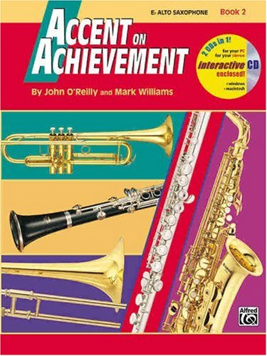 Accent on Achievement, Bk 2 E-Flat Alto Saxophone, Book and CD  1998 edition cover