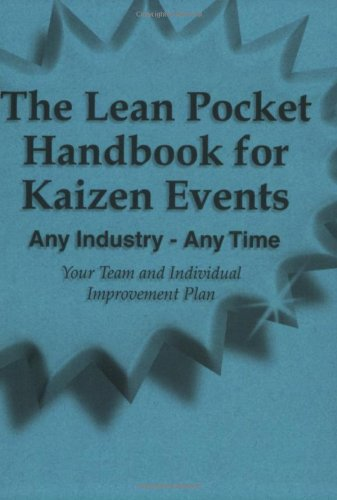 Lean Pocket Handbook for Kaizen Events - Any Industry - Any Time  N/A edition cover