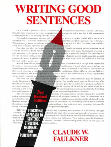 Writing Good Sentences  3rd 1981 (Revised) edition cover
