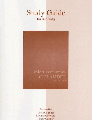 Study Guide for Use Wtih Microeconomics 7th 2008 9780073343709 Front Cover
