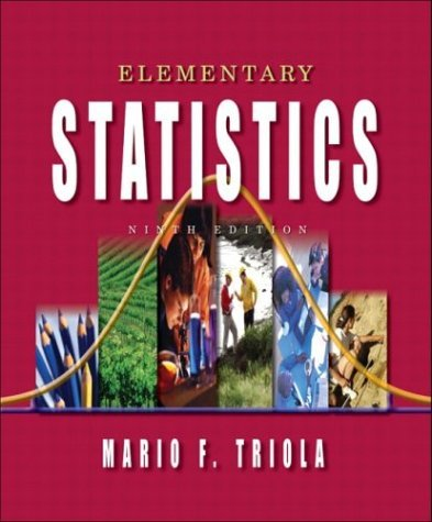 Elementary Statistics  9th 2004 edition cover