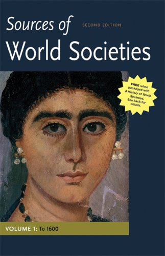 Sources of World Societiest to 1600  2nd 2012 edition cover