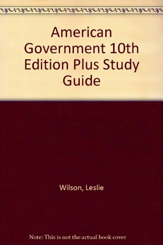 American Government 10th Edition Plus Study Guide 10th 2006 9780618751709 Front Cover