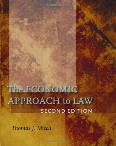 Economic Approach to Law, Second Edition  2nd 2008 edition cover