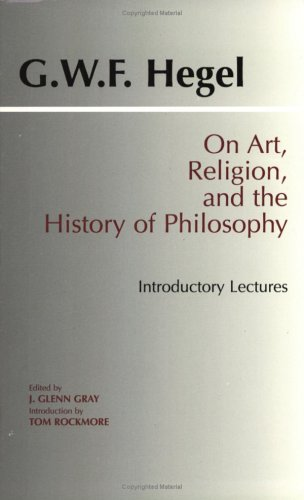 On Art, Religion, and the History of Philosophy Introductory Lectures  1997 edition cover