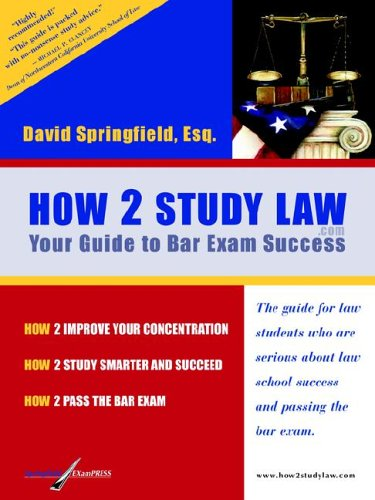 How 2 Study Law  2005 9780976550709 Front Cover