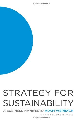 Strategy for Sustainability A Business Manifesto  2009 edition cover