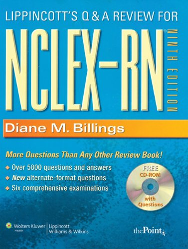 Lippincott's Q and A Review for NCLEX-RN�  9th 2007 (Revised) edition cover