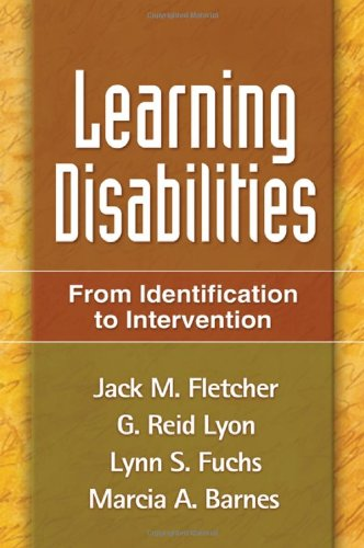 Learning Disabilities From Identification to Intervention  2007 edition cover