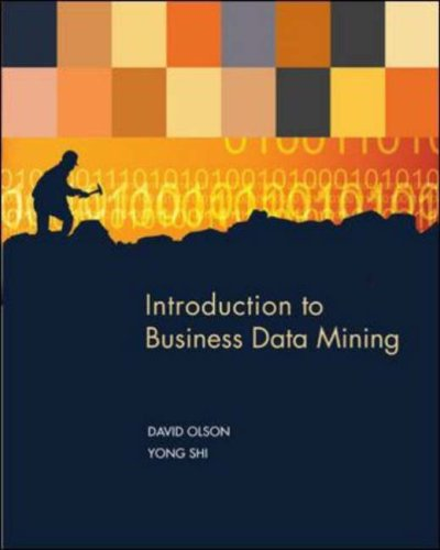 Introduction to Business Data Mining   2007 9780072959710 Front Cover