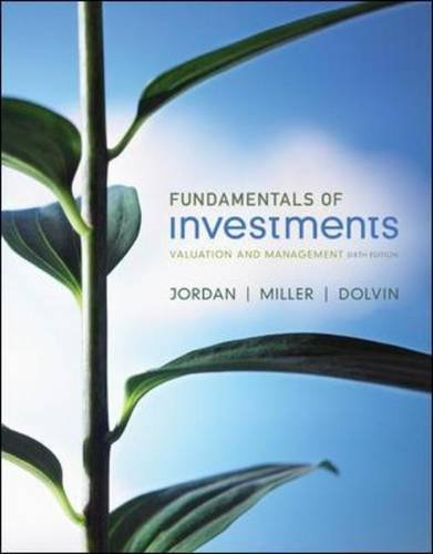 Fundamentals of Investments Valuation and Management 6th 2012 edition cover