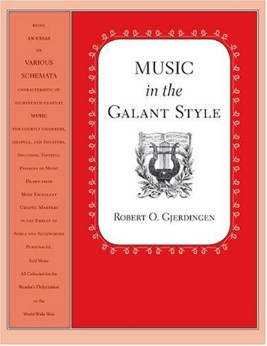 Music in the Galant Style   2007 edition cover