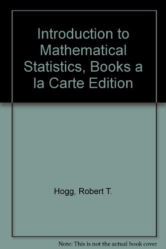 Introduction to Mathematical Statistics, Books a la Carte Edition  7th 2013 edition cover