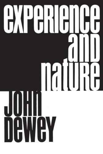 Experience and Nature   1958 edition cover