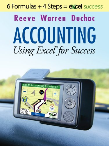 Accounting Using Excel for Success   2011 9780538480710 Front Cover