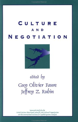 Culture and Negotiation The Resolution of Water Disputes  1993 edition cover