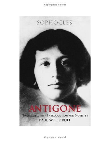 Antigone   2001 9780872205710 Front Cover