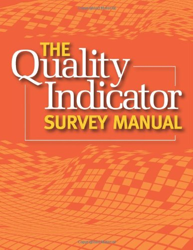 Quality Indicator Survey Manual:   2011 edition cover