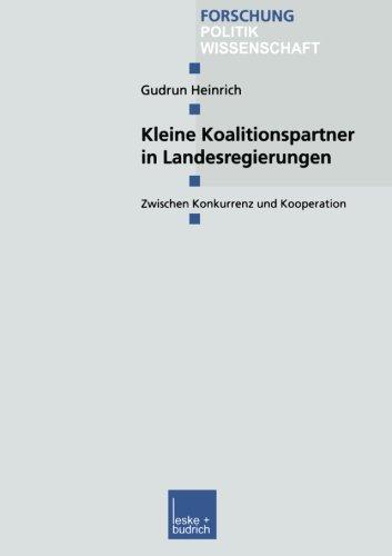 Kleine Koalitionspartner in Landesregierungen   2002 9783810033710 Front Cover