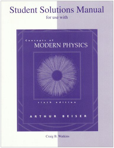Concepts of Modern Physics  6th 2003 (Revised) 9780072499711 Front Cover