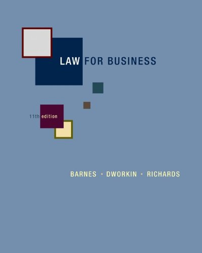 Law for Business  11th 2012 edition cover